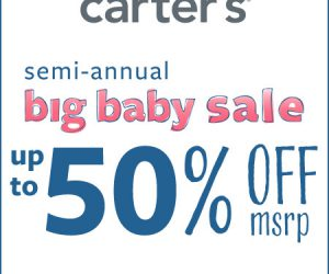 Carter's Semi-Annual Big Baby Sale Up to 50% Off*