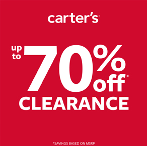 Carter's – UP TO 70% OFF CLEARANCE / NEW ARRIVALS UP TO 50% OFF