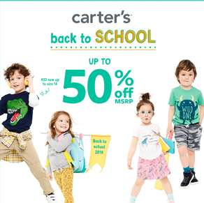 Carter's – CLASS OF CHARACTERS UP TO 50% OFF*at Carter's