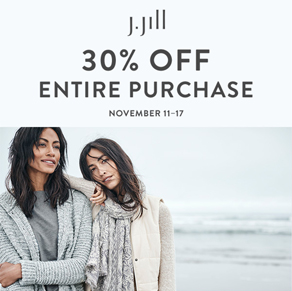 J. Jill – Extra 30% off Your Entire Purchase!*