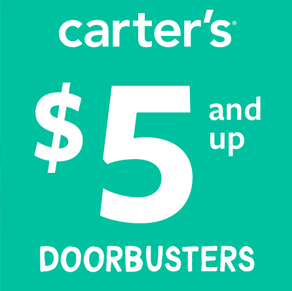 $5 AND UP BABY DOORBUSTERS at Carter's
