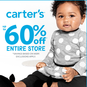 Carter's – Fall In Love Sale! Up To 60% Off*