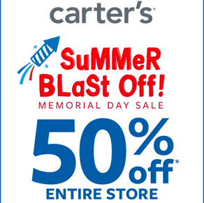 Carter's – 50% off* Entire Store!