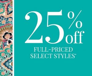Chico's – 25% OFF Full Priced Select Styles* – Ends 1/25/2020