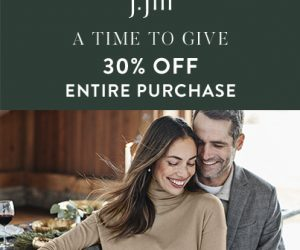 J. Jill – A Time to Give – 30% OFF Entire Purchase – Ends Sunday 12/8!