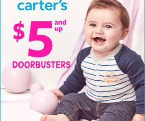 Carter's $5 & Up Doorbusters – Extended through 1/20/2020!